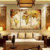 3PCS World Map Printed Painting Canvas Print - COLORMIX