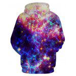 Cool 3D Star Printing Confortable Cool Male Hoodie - MULTICOLORE