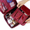 Korean Style Waterproof Nylon Organizer Bag for Travel - WINE RED