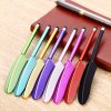 YM07 Plastic Feather Design Phone Screen Stylus Touch Pen - PURPLE
