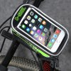 B - SOUL 07152 5.5 inch 1.5L Touch Screen Bicycle Font Bag - GREEN