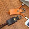 Key Chain Micro USB Cable - BROWN