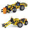 QUNLONG 2-in-1 ABS Building Block Puzzle Transformable Engineering / Harvester Car Intelligence Toy for Kids - COLORMIX