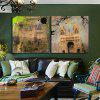 2pcs Famous Building Printing Canvas Wall Decoration - MULTICOLOR