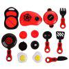 Red Simulation Kitchen Tableware Toy 12pcs - RED