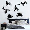 Creative Household Extreme Motorcycle Rider Wall Sticker - BLACK