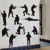 Creative Household Soldier Wall Sticker - BLACK
