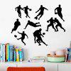 D050 Rugby Player Design Wall Sticker - BLACK