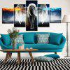 5PCS Printed Angel Wings Painting Canvas Print Room Decor - COLORFUL