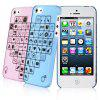 2PCS Baseus Lovers Style Romantic Ultrathin Plastic Shell Case for iPhone 5
