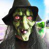 Hairy Face Mask Novelty Scary for Halloween - BLACK AND GREEN
