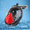 SMACO Full Face Snorkel Mask for Action Camera M Size - RED WITH BLACK