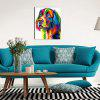 Dog Pattern Home Wall Decoration Canvas Painting - COLORFUL