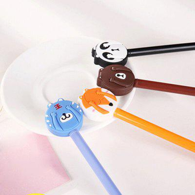 4Pcs Lovely Cartoon Animal Theme Ballpoint Ink Pen