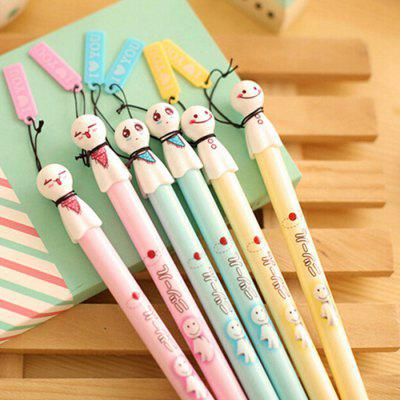 6Pcs Creative Cartoon Figure Shape Ballpoint Pen
