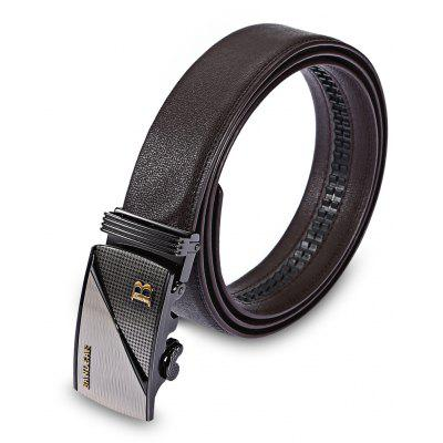 Male Genuine Leather Automatic Buckle Casual Trouser Belt