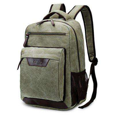 Buy ARMY GREEN Men Durable Multifunctional Canvas Backpack for $30.70 in GearBest store