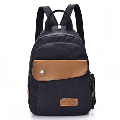 Men Leisure Durable Multifunctional Canvas Backpack