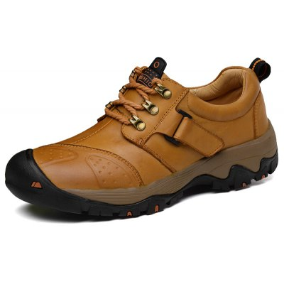 Plus Size Lace-up Outdoor Genuine Leather Sneakers for Men