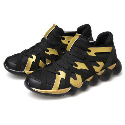 Low-top Lace-up Leisure Athletic Shoes for Men