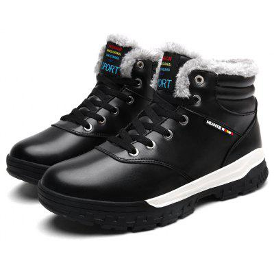 Male Autumn Winter Fleeced Casual High Top Sneakers