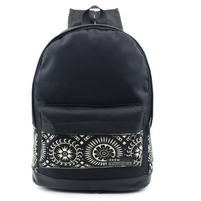 Men Leisure Stylish Printed Canvas Backpack