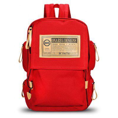 Men Fashion Printed Canvas Backpack