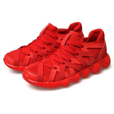 Men Low-top Lace-up Leisure Athletic Shoes