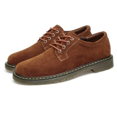 Vintage Casual Suede Oxford Shoes for Men