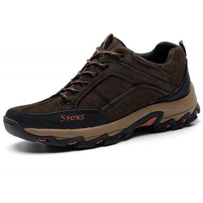 Men Plus Size Outdoor Genuine Leather Athletic Shoes