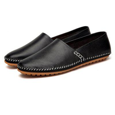 Men Casual Soft Stitching Leather Oxford Shoes