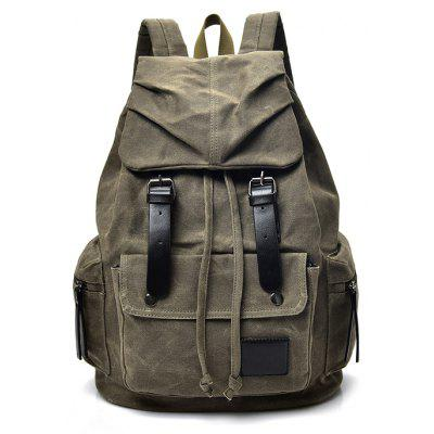 Men Durable Retro Canvas Backpack