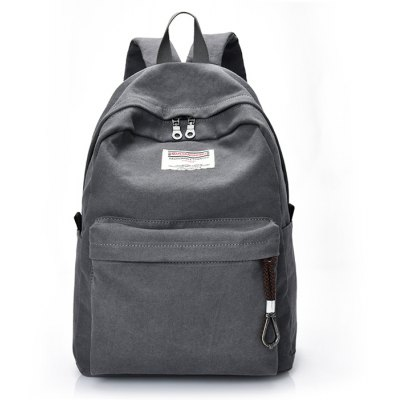Men Leisure Durable Canvas Backpack with USB Port