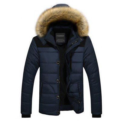 Male Classic Padded Winter Jacket with Hood
