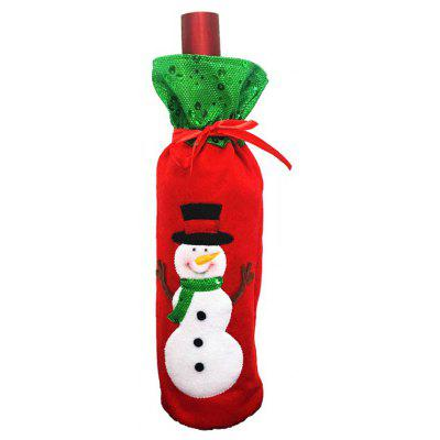 Macroart px - 138 - 2 Snowman Wine Bottle Bag
