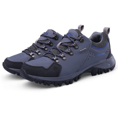 Buy GRAY 46 Lace-up Anti-slip Outdoor Hiking / Climbing Shoes for Men for $39.75 in GearBest store
