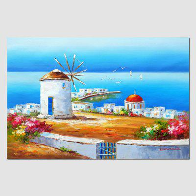HuaTuo Colorful Village Hand Painted Oil Painting