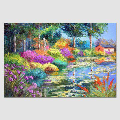 HuaTuo Colorful Lake View Hand Painted Oil Painting