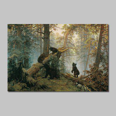 Mintura HY150109 Brown Bears Unframed Decorative Canvas Print Wall Art Painting