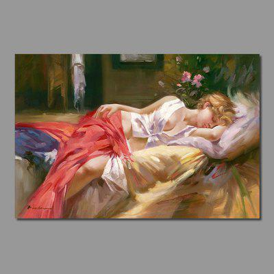 Mintura HY150107 Sexy Lady Unframed Decorative Canvas Print Wall Art Painting