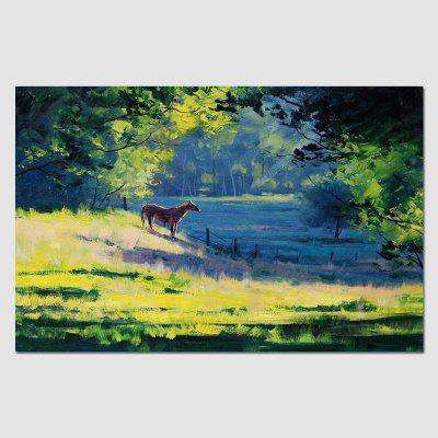 HuaTuo Hand Painted Modern Forest Canvas Home Decor Framed Oil Painting