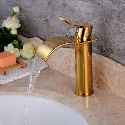 LING HAO HL - 189 Lifting Type Ti-PVD Waterfall Basin Faucet