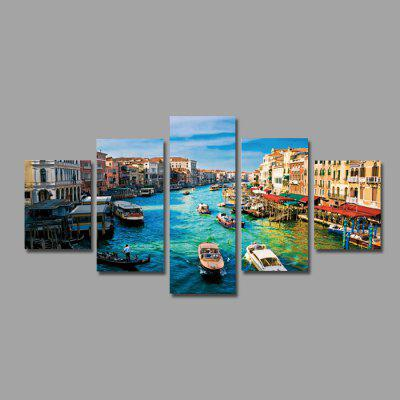 Buy COLORMIX Water City Venice Print Modern Unframed Canvas Painting 5PCS for $12.46 in GearBest store
