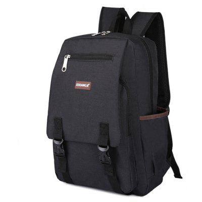 Buy BLACK Multifunctional Classic Style Leisure Backpack Schoolbag for $15.74 in GearBest store