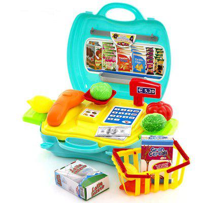 New Style Pretend Play Supermarket Cash Register Toy Set for Kids