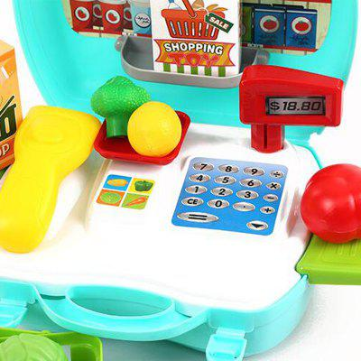 New Style Pretend Play Supermarket Cash Register Toy SetPretend Play<br>New Style Pretend Play Supermarket Cash Register Toy Set<br><br>Age: 3 Years+<br>Applicable gender: Unisex<br>Design Style: Other<br>Features: Educational<br>Gender: Unisex<br>Material: Electronic Components, Plastic<br>Package Contents: 1 x Pretend Play Toy Set<br>Package size (L x W x H): 25.00 x 10.00 x 23.00 cm / 9.84 x 3.94 x 9.06 inches<br>Package weight: 0.7000 kg<br>Product size (L x W x H): 24.00 x 8.50 x 22.00 cm / 9.45 x 3.35 x 8.66 inches<br>Product weight: 0.6000 kg<br>Small Parts: Yes<br>Type: Intelligence toys<br>Washing: No