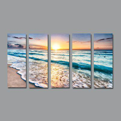 NO1 Stretched Canvas Print Sunset Seascape Wall Art