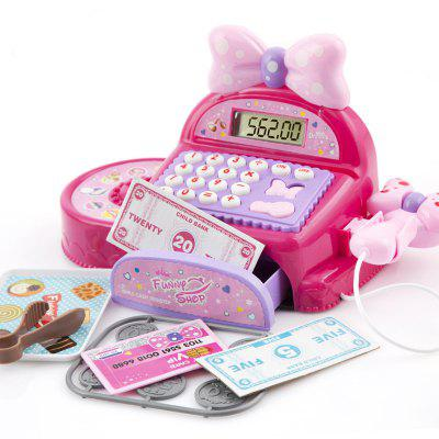 Bowknot Intelligent Cash Register Supermarket Pretend Play Toy Set