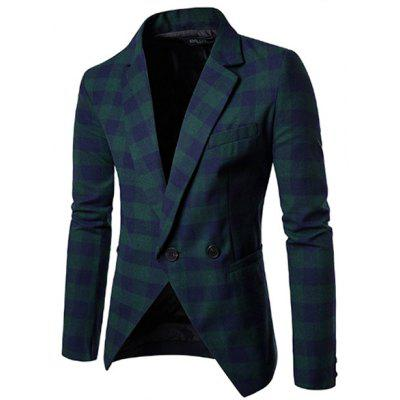 Simple Men Slim Fit Casual One Button Blazer Suit Jacket
