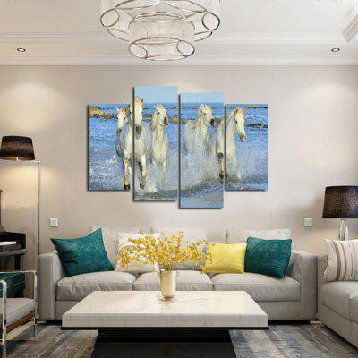 God Painting Five White Horses Printed Canvas Print 4PCSPrints<br>God Painting Five White Horses Printed Canvas Print 4PCS<br><br>Craft: Print<br>Form: Four Panels<br>Material: Canvas<br>Package Contents: 4 x Print<br>Package size (L x W x H): 42.00 x 6.00 x 6.00 cm / 16.54 x 2.36 x 2.36 inches<br>Package weight: 0.3800 kg<br>Painting: Without Inner Frame<br>Product weight: 0.3400 kg<br>Shape: Horizontal Panoramic<br>Style: Beautiful, Modern, Animal<br>Subjects: Animal<br>Suitable Space: Bedroom,Cafes,Dining Room,Entry,Game Room,Hallway,Hotel,Kids Room,Living Room,Study Room / Office